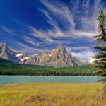 Mistaya lake in Banff National Park, Alberta, Canada