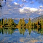 Refection at Vermilion Lakes Banff, Canada