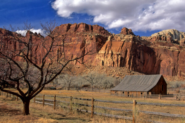 Old barn Capitol Reef National Park, Utah