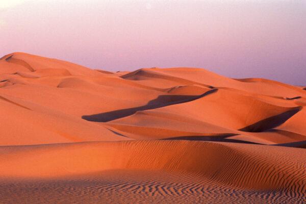 Sunset Algodones Dunes (Glamis) Sonoran Desert, California
